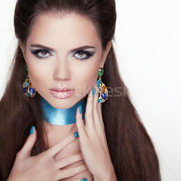 Trendy Fashion Jewelry. Beauty Fashion Woman Portrait.  Stock photo © Victoria_Andreas