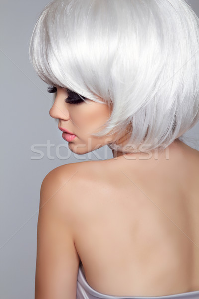 Beauty Blond Fashion Woman Model Portrait. Short Blond hair. Eye Stock photo © Victoria_Andreas