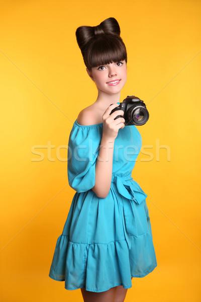 Stock fotó: Gyönyörű · boldog · mosolyog · tinilány · elvesz · fotó
