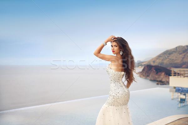 美しい ファッション 花嫁 少女 ウェディングドレス 夏 ストックフォト © Victoria_Andreas