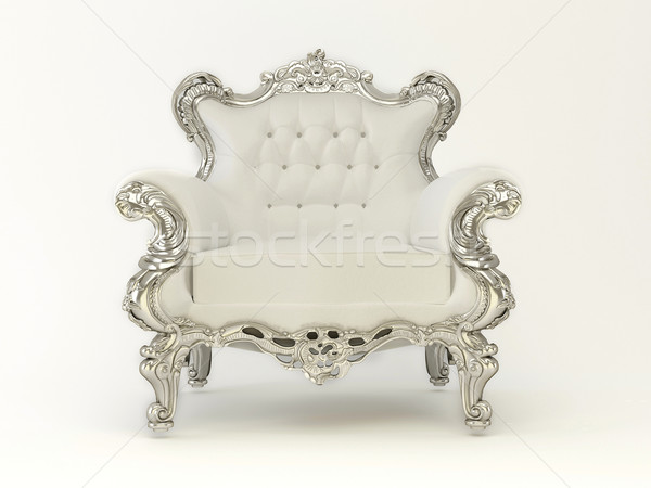 Luxury modern armchair with silver frame on the white background Stock photo © Victoria_Andreas