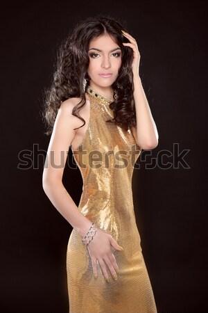 Seksi sarışın kız genç güzel bir kadın Stok fotoğraf © Victoria_Andreas