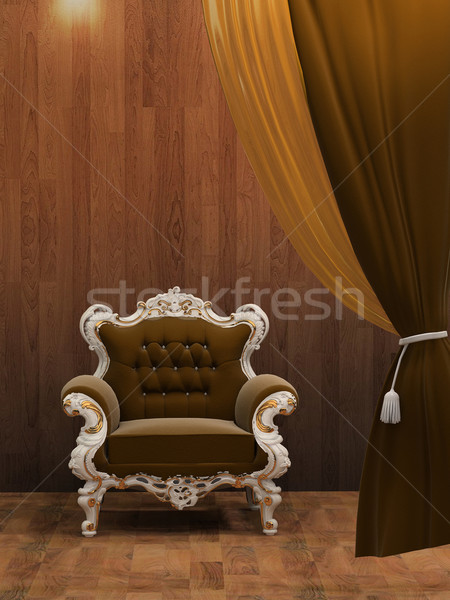 Modern armchair in wooden interior  Stock photo © Victoria_Andreas