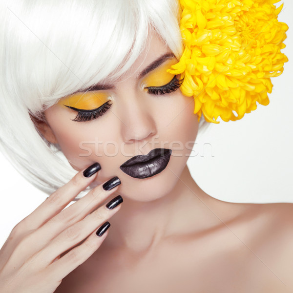 Moda sarışın model kız portre moda Stok fotoğraf © Victoria_Andreas
