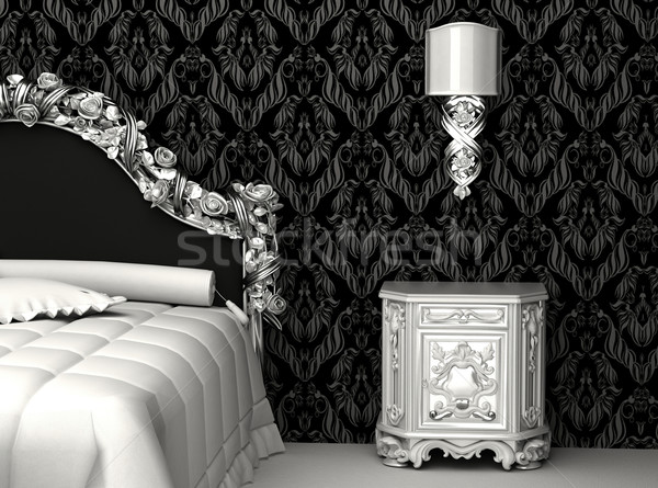 Stock photo: Baroque furniture in bedroom