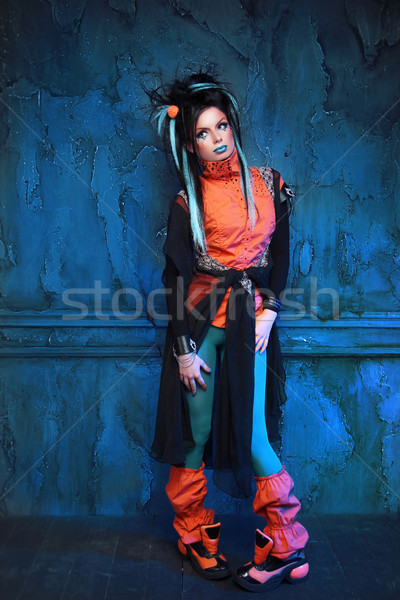 портрет панк девушки позируют Гранж Сток-фото © Victoria_Andreas