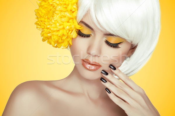 Beauty Portrait. Makeup. Manicured nails. Beautiful Spa Woman To Stock photo © Victoria_Andreas