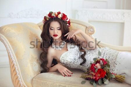 Elegante senhora moda belo sensual loiro Foto stock © Victoria_Andreas