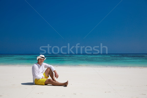 Summer. Relax. successful man resting on exotic beach. Vacation  Stock photo © Victoria_Andreas