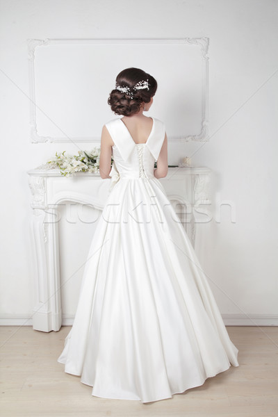 Bridal hairstyle. Beautiful charming bride in wedding luxurious  Stock photo © Victoria_Andreas