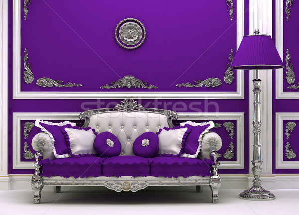 Luxury sofa with lamp in magnificence interior Stock photo © Victoria_Andreas