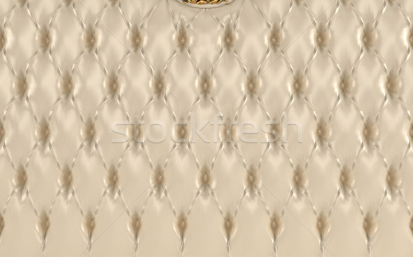 Luxurious beige texture, buttoned leather pattern. Royal Stock photo © Victoria_Andreas