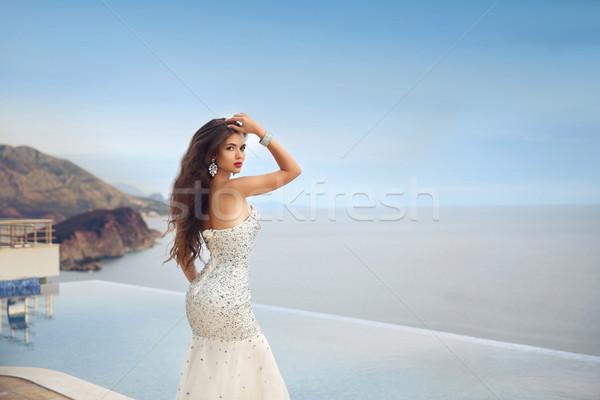 美しい 花嫁 少女 ウェディングドレス 夏休み ファッション ストックフォト © Victoria_Andreas