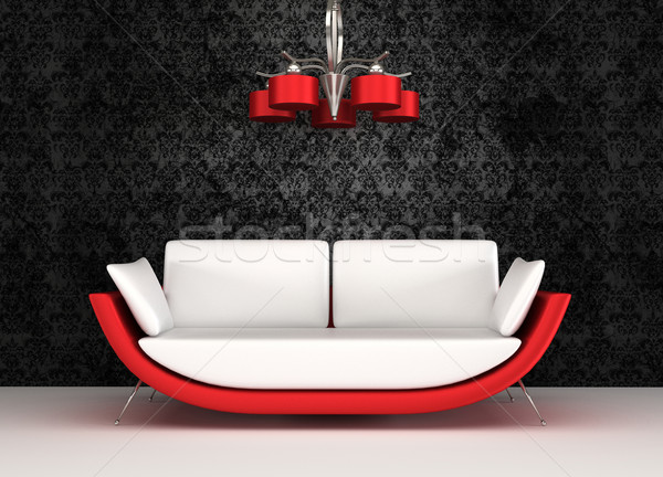 Modern sofa with chandelier in luxurious interior Stock photo © Victoria_Andreas