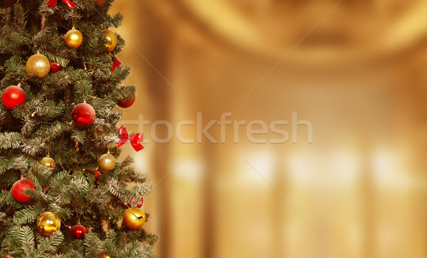 Christmas tree, gifts background. December, winter holiday xmas Stock photo © Victoria_Andreas