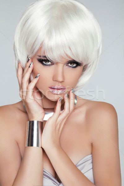 Moda rubio nina belleza retrato mujer Foto stock © Victoria_Andreas