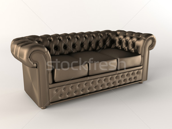Chester Leather brown sofa. Chesterfield Stock photo © Victoria_Andreas