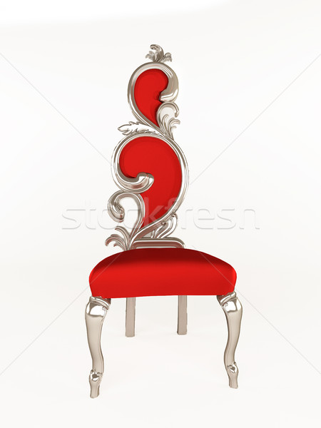 Luxurious chair with curve frame isolated on white background Stock photo © Victoria_Andreas