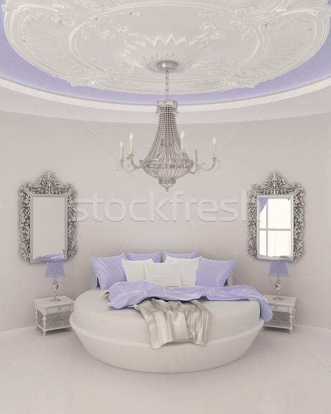 Sufit nowoczesne sypialni pokój zamek Zdjęcia stock © Victoria_Andreas
