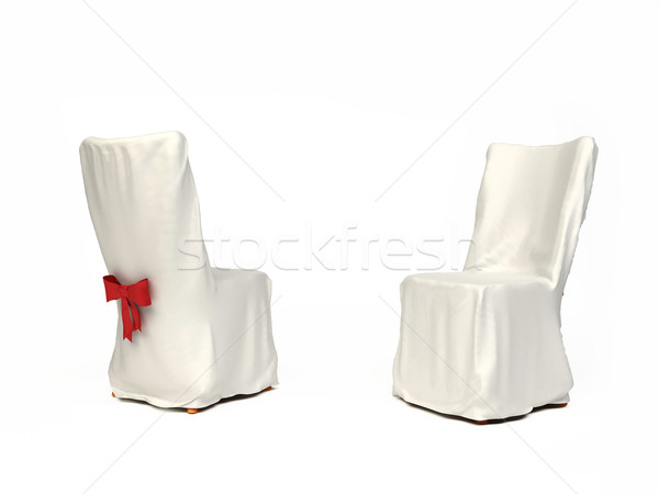 Cavered chair for wedding isolated on white background Stock photo © Victoria_Andreas