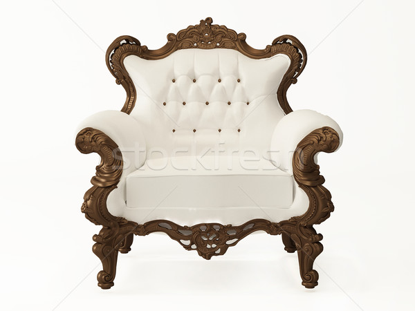 standard and modern leather armchair with wooden frame Stock photo © Victoria_Andreas