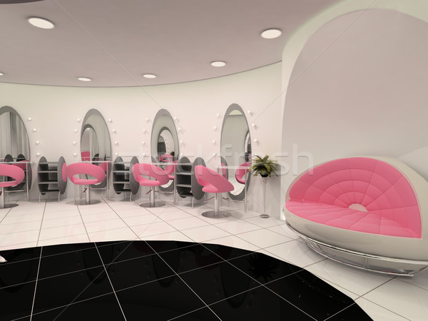 Interior of Professional beauty salon Stock photo © Victoria_Andreas