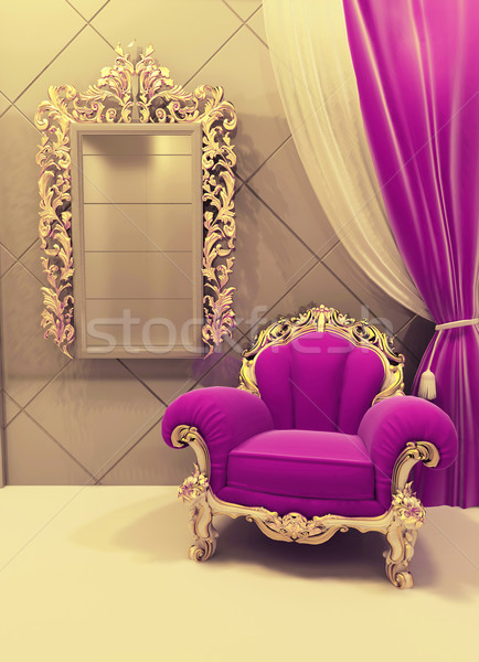 Royal  furniture in a luxurious interior, pink pattern Stock photo © Victoria_Andreas