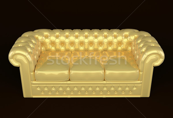 Luxury sofa with golden leather Stock photo © Victoria_Andreas