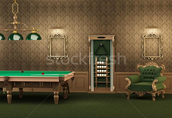 Biliardo biliardo mobili lusso interni vuota Foto d'archivio © Victoria_Andreas