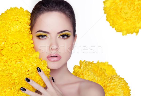 Güzel genç kadın temizlemek taze cilt Stok fotoğraf © Victoria_Andreas