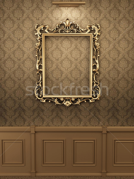 Royal golden frame on the wall in interior. Gallery  Stock photo © Victoria_Andreas