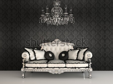 Baroque sofa and chandelier in luxury apartment  Stock photo © Victoria_Andreas