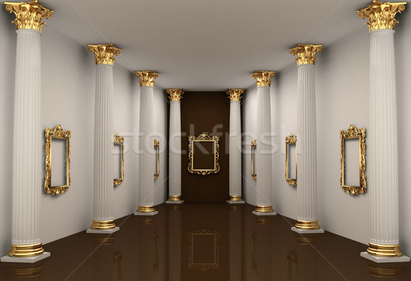 Perspective of gallery walls with Corinthian order column Stock photo © Victoria_Andreas
