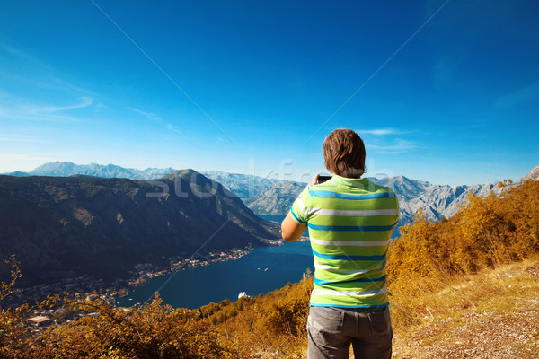Черногория вид сзади молодым человеком туристических фото Сток-фото © Victoria_Andreas