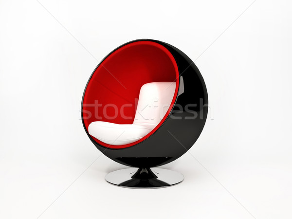Modern semicircular armchair isolated on white background Stock photo © Victoria_Andreas