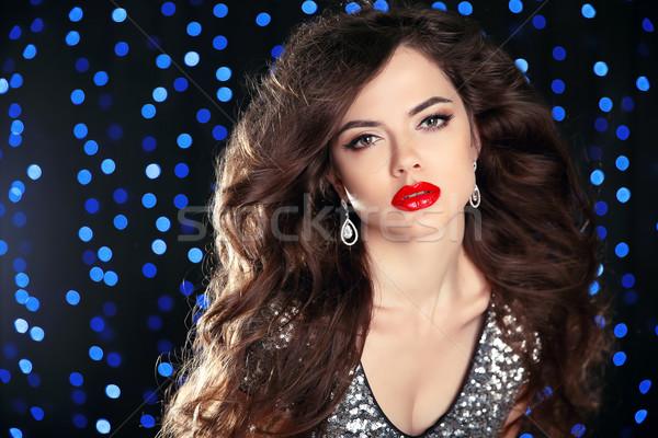 Beleza make-up belo modelo saudável cabelo Foto stock © Victoria_Andreas