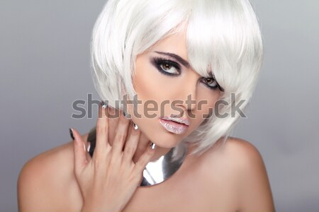 Portrait of beautiful young blond woman with clean face. Makeup  Stock photo © Victoria_Andreas