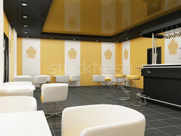 Interior of Restaurant. Modern Bar. Comfortable Cafe. Stock photo © Victoria_Andreas