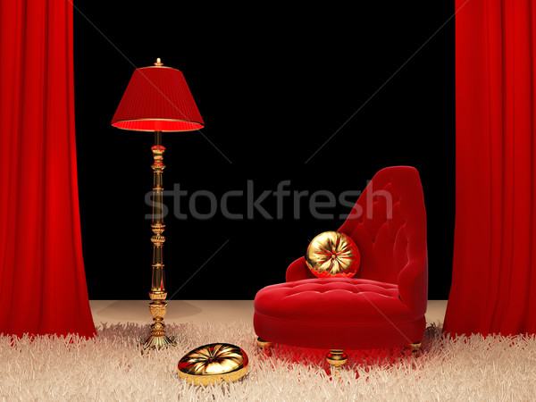 Luxury armchair with  standard lamp in Interior Stock photo © Victoria_Andreas