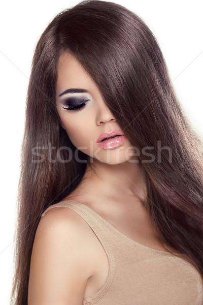 Szépség lány portré divat modell nő Stock fotó © Victoria_Andreas
