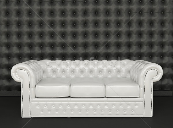 White leather sofa on a black background  Stock photo © Victoria_Andreas