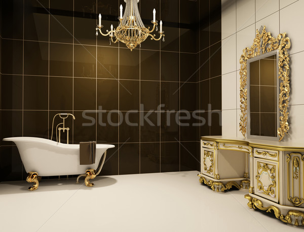baroque furniture in bathroom Stock photo © Victoria_Andreas