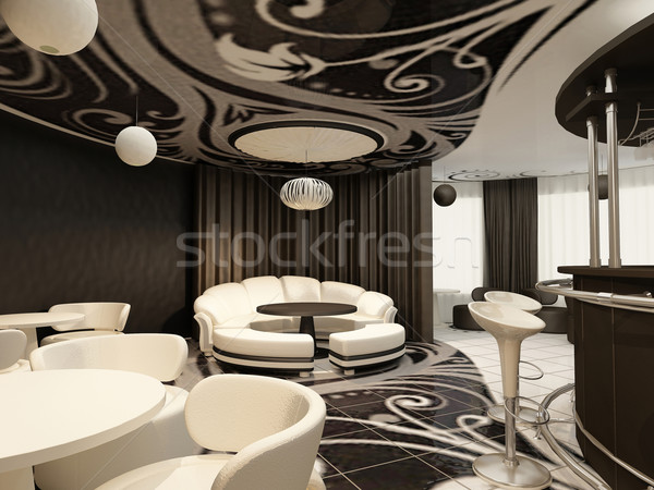 Perspective of modern restaurant with design furniture Stock photo © Victoria_Andreas