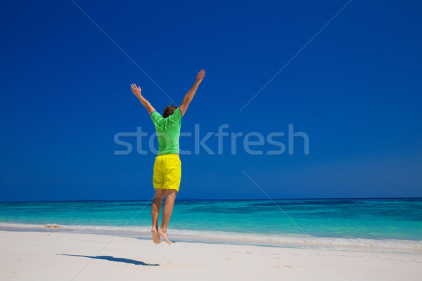 Human. Freedom Beach Summer Holiday Concept. Handsome young man  Stock photo © Victoria_Andreas