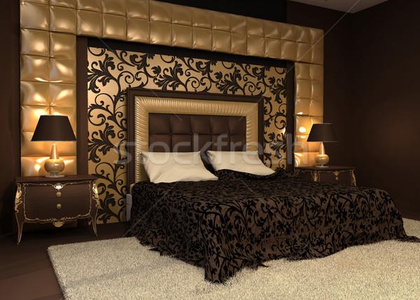 Romantischen innenraum bett hotel wohnung design for Wohnung interior