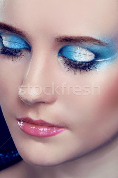 Eyes Makeup.Make-up.Eyes shadows. Fashion art photo Stock photo © Victoria_Andreas