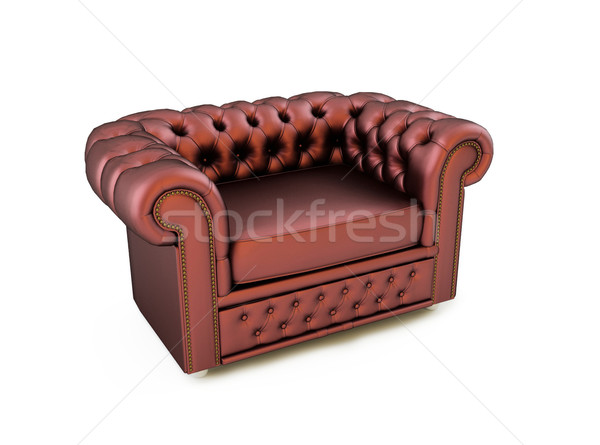 Classic leather armchair on white background Stock photo © Victoria_Andreas