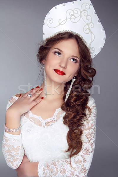 Stok fotoğraf: Rus · güzellik · çekici · kadın · eski · Rusya