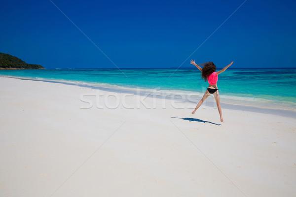Beautiful Women. Happiness bliss freedom beach concept. Enjoymen Stock photo © Victoria_Andreas