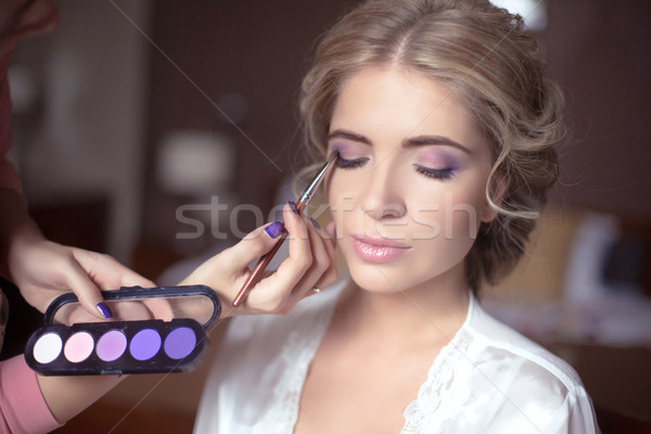 美しい 花嫁 結婚式 化粧 ヘアスタイル スタイリスト ストックフォト © Victoria_Andreas